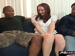 cadence caliber cute redhead is struggling to suck...