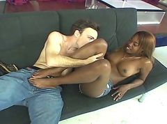 Ebony Footjob 9