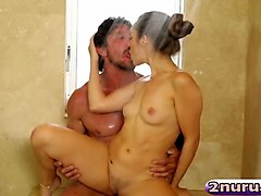 cassidy klein nuru massage blowjob fuck bathroom