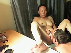 Asian mature wife and her new white husband