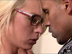 tgirl aubrey kate sucked by and is anal fucked by therapist