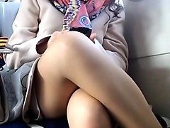 Upskirt on train hidden cam voyeur 5