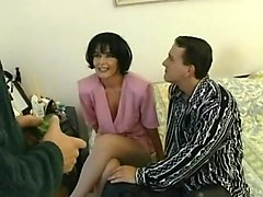Hairy German Girl And Two Dicks