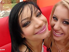 Nikky Thorne and Angel Pink in lesbian fisting action by FistFlush