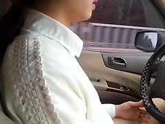 korean driving and showing her pussy on korean highway