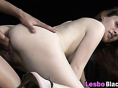 black and white lesbians fisting pussies by pool