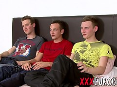 Three cute horny twink have a sex party