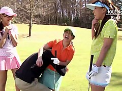 erika hiramatsu takes two clubs after golf -uncensored jav-