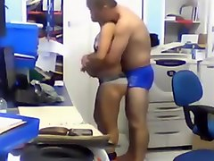 Office voyeur video with horny colleagues