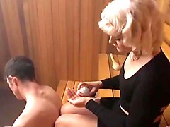 Beautiful blonde crossdresser