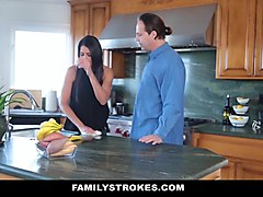 FamilyStrokes- Panty Sniffing Step-Dad Blackmailed By Hot Daughter