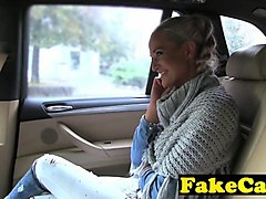 married blonde fucks a taxi driver for ride home