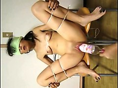 asian slave double fisted