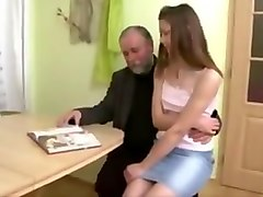 Son arrives to find his dad fucking his girlfriend !
