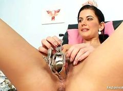 Sandra visits gyno doctor for pussy speculum..