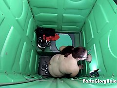 porta gloryhole bbw getting loads of cum inside porta potty gloryhole