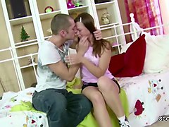 petite virgin sister first anal fuck by big cock step-bro
