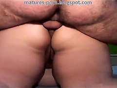 masked bbw grandma anal and double penetration