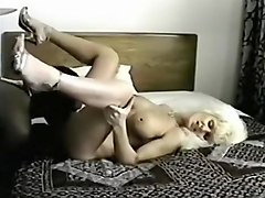 Sexy blonde with big tits gets her pussy licked and fucked by black guy