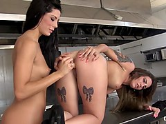 chicas loca - brunette spanish pornstars alexa tomas and medusa delight in lesbian sex