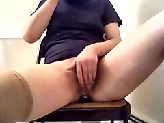 Huge Clit masturbation and Anal