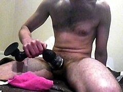first time with my new toy...strong orgazm