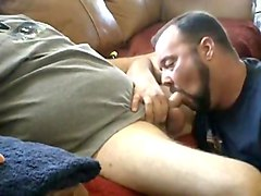 Sucking My Daddy's Cock after I Eat My Load off off It