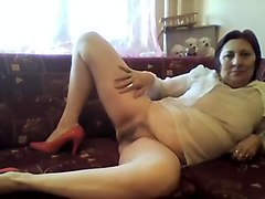 Crazy Homemade video with BBW, Solo scenes