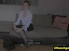 UK casting ginger sucking agents dick