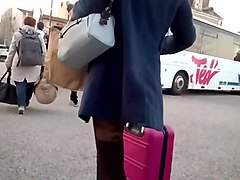 Slow motion woman with fantasy pantyhose 2