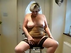 Exotic Amateur clip with BBW, Solo scenes