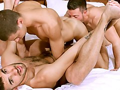 Tommy Deluca, Nick Tiano and Nick Andrews - BarebackThatHole