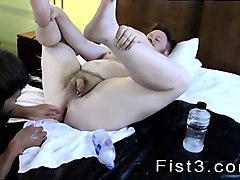 gay twink feet fisting sky works brock's hole with his fist
