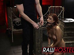 bdsm and rough fucking with a nasty redhead