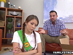 familystrokes - hot cookie selling teen fucked by stepdad