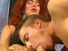 redhead majestic white milf tranny blows dick of a young man