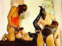 redhead and brunette french milfs enjoy hardcore bdsm orgy