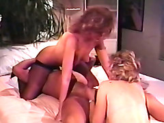 two beautiful classic milfs seduce a cop and have threesome