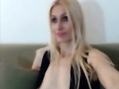 blond haired perfect babe of my buddy made a vid of her own bald cunt
