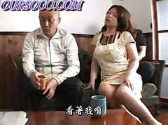 Asian babe shows off her fuckable body and lets two guys play