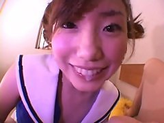 Little Asian Cheerleader Takes Cum In Her Mouth