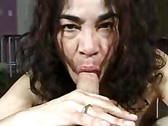 Mature Chick Sucks Until The Cumshot Ugly