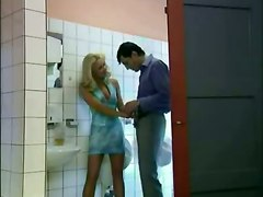 Horny Euro Milf Fucks Stranger In Public Bathroom