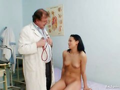 Brunette Pavlina Vagina Exam By Old Doctor At Clinic