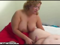 Old Lady Sucking On A Small Dick