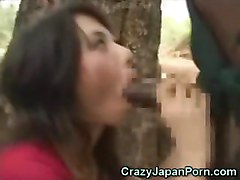 African Cock In Asian Mouth