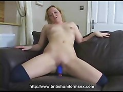 Dirty Donna In Uniform Stripping