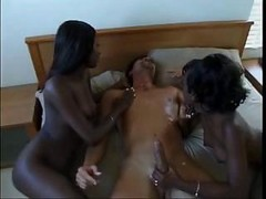 2 Ebony Babes 1 Lucky Guy