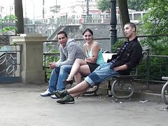 Public Threesome Sex On The Street. Awesome!