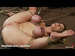 Huge Boobed Hogtied Sara Jay Fisted And Toyed